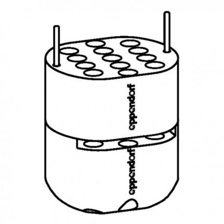 Wirówka 5804, 230 V/50-60 Hz z rotorem S-4-72 i adapterami na probówki Flacon 15/50 mL