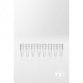 Probówka PCR PP, 0,2 ml, bez zatyczki, 8 w pasku,