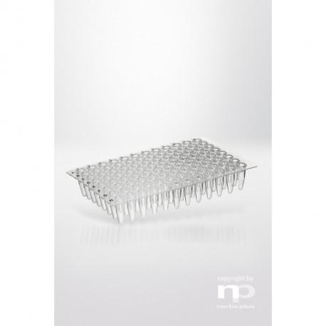 PCR-płytka PP, 96x0,2ml, bez ramki, płaska, wysoce przezroczysta,