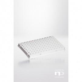 PCR-płytka PP, 96x0,2ml, półramkowa, niski profil,