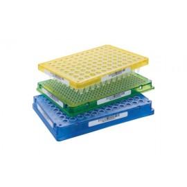 Płytki Płytki twin.tec PCR 96 wielobarwna (dołki bezbarwne) typu semi-skirted z kodem kreskowym, 25 szt.