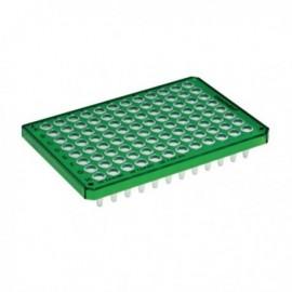 Płytki Płytki twin.tec PCR 96 zielone (dołki bezbarwne) typu semi-skirted, 25 szt.