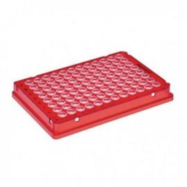Płytki Płytki twin.tec PCR 96 czerwone (dołki bezbarwne) typu skirted, 25 szt.