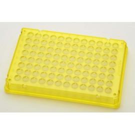 Płytki Płytki twin.tec PCR 96 żółte (dołki bezbarwne) typu skirted, 300 szt.