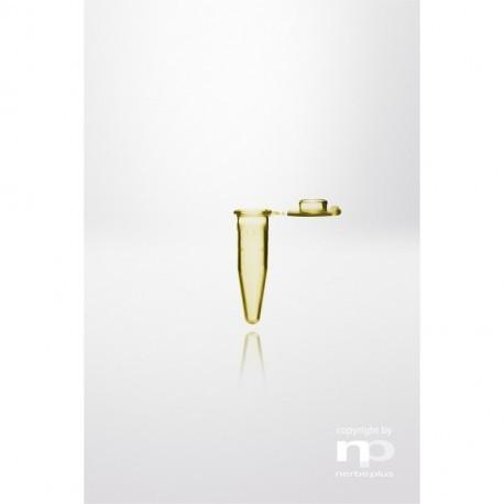 np Probówka Safelock-Cap PP, 1,5 ml, dołączona zatyczka, odporna na wrzenie, żółta,