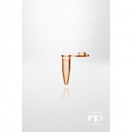 np Probówka Safelock-Cap PP, 1,5 ml, dołączona zatyczka, odporna na wrzenie, bursztynowa,