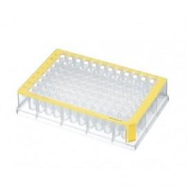 Płytki deepwell 96/500 µL protein LoBind, PCR clean żółte, 5 op. x 8 szt.