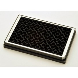Microplate 96/F-PP, black wells, border color white, PCR clean, 80 plates (5 bags of 16)