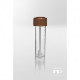 Uniwersalny pojemnik na próbki z łyżeczką PP, 15 ml, fi 20x76 mm,