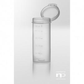 Pojemnik z pokrywką na zawiasach PP, 50 ml, fi 33 x 80 mm,