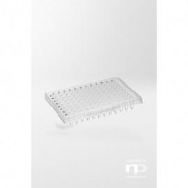 Płytka PCR PP, 96 x 0,2 ml, półramkowa, podniesiona otoczka,