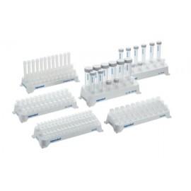 Statyw na probówki 0,5 mL, 48 dołków (3 rzędy po 16 dołków) , 2 sztuki, biały, możliwość sterylizacji w autoklawie