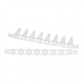 Probówki PCR Strips 0,1 mL z Cap Strips, płaskie, 10 op. x 12 pasków 8 probówek w pasku