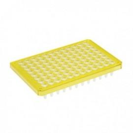 Płytki Płytki twin.tec PCR 96 żółte (dołki bezbarwne) typu semi-skirted, 25 szt.