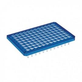 Płytki Płytki twin.tec PCR 96 niebieskie (dołki bezbarwne) typu semi-skirted, 25 szt.