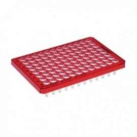 Płytki Płytki twin.tec PCR 96 czerwone (dołki bezbarwne) typu semi-skirted, 25 szt.