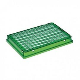Płytki Płytki twin.tec PCR 96 zielone (dołki bezbarwne) typu skirted, 25 szt.