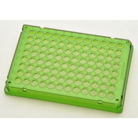 Płytki Płytki twin.tec PCR 96 zielone (dołki bezbarwne) typu skirted, 300 szt.