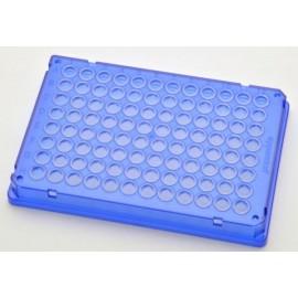 Płytki Płytki twin.tec PCR 96 niebieskie (dołki bezbarwne) typu skirted, 300 szt.