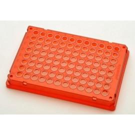 Płytki Płytki twin.tec PCR 96 czerwone (dołki bezbarwne) typu skirted, 300 szt.