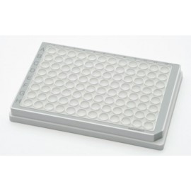 Microplate 96/F-PP, white wells, border color grey, PCR Clean, 80 plates (5 bags of 16)